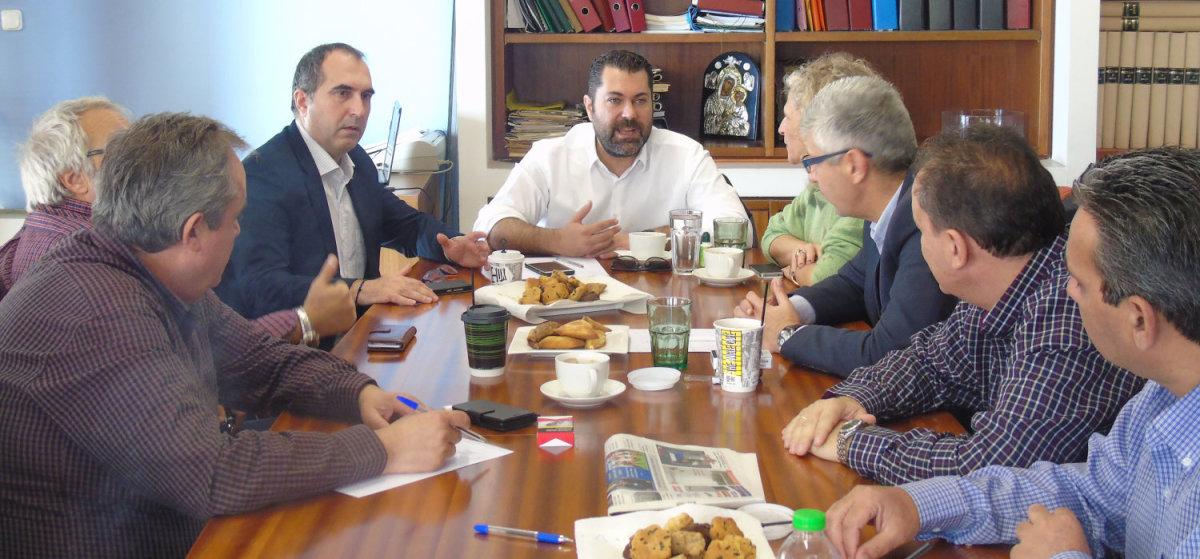 Συνάντηση Λ. Κρέτσου με εκπροσώπους της Ένωσης Συντακτών Θεσσαλίας