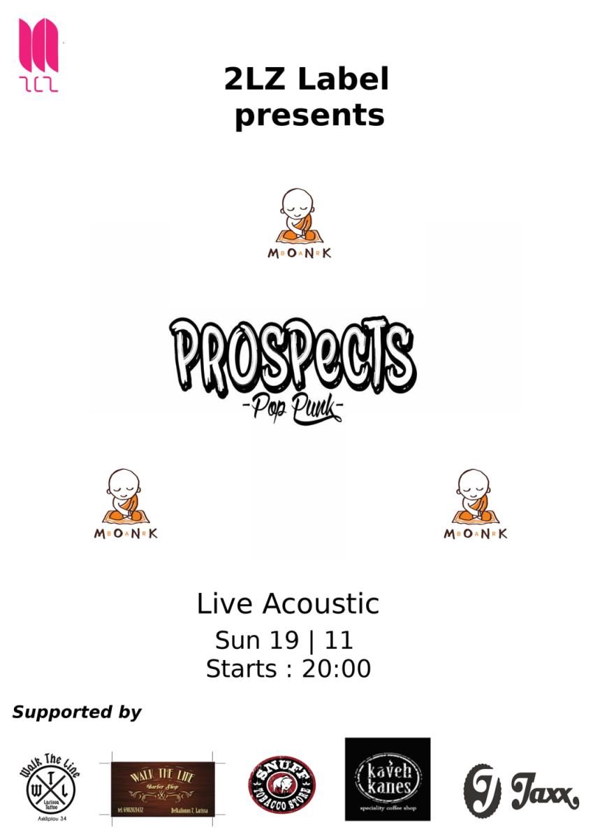 """Οι Prospects σ"""" ένα live acoustic show"""