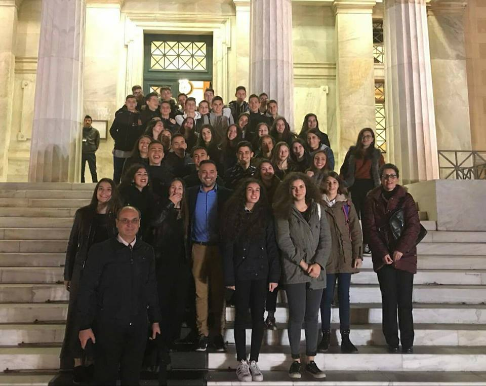 Με μαθητές του 10ου ΓΕΛ Λάρισας ο Κατσιαντώνης