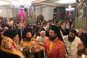 Πλήθος Λαρισαίων στον Ι.Ν. Αγίας Αικατερίνης στο Αλκαζάρ (φωτο)