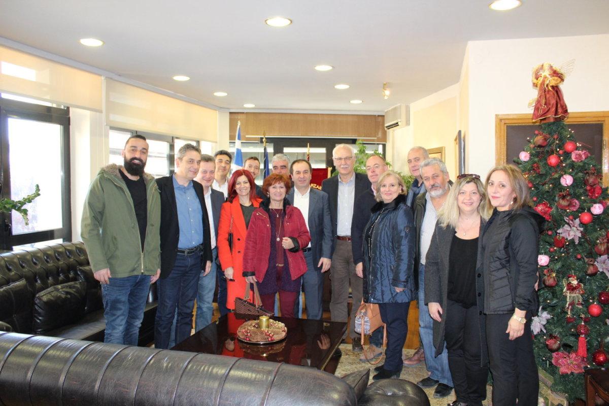 """Ο Δήμαρχος Λαρισαίων συναντήθηκε με τον Σωτήρη Γιαννακόπουλο και τους υποψηφίους της """"Ανεξάρτητης Επιμελητηριακής Κίνησης"""""""
