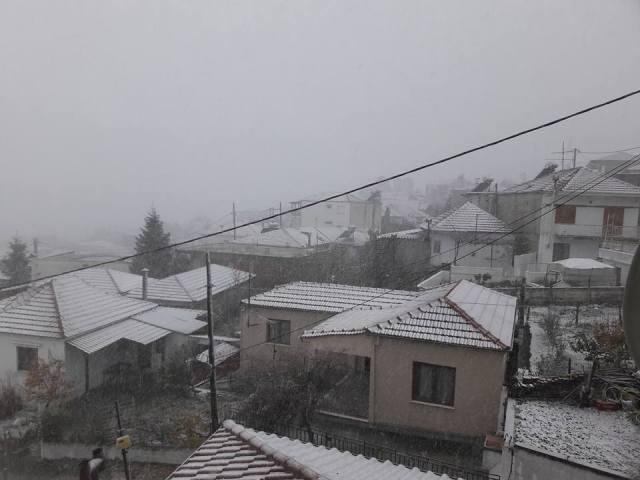 Έντονη χιονόπτωση από τα ξημερώματα στην Μαγνησία