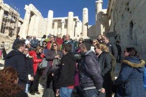 Δημοσιογράφοι της ΕΣΗΕΘΣΤΕ-Ε σε Μουσείο και Ιερό Βράχο Ακρόπολης
