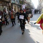 Οι πρώτοι καρναβαλιστές στο κέντρο της Λάρισας (φωτ.)