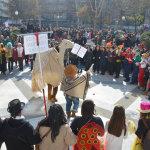 Λάρισα: Εικόνες από το ξεφάντωμα των καρναβαλιστών