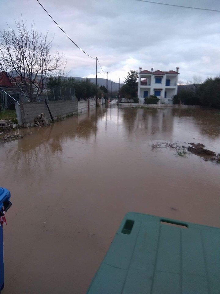 Πλημμύρισαν και πάλι στα παράλια του ν. Λάρισας (φωτ.)