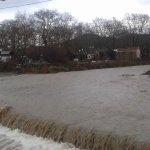 Πλημμύρισαν σπίτια – κόπηκε δρόμος στα παράλια ν. Λάρισας