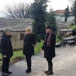 Αυτοψία Περιφερειάρχη Θεσσαλίας στις ζημιές του Δήμου Ζαγοράς
