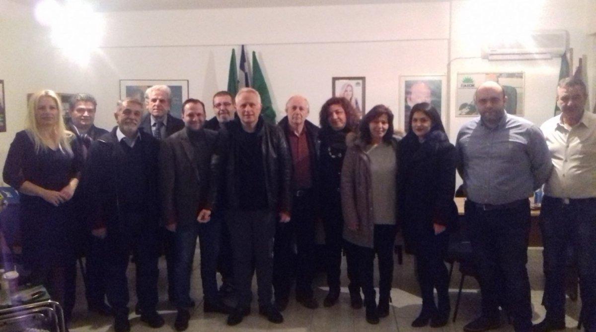 Κουβέντα και δείπνο για τον Γ. Ραγκούση στη Λάρισα