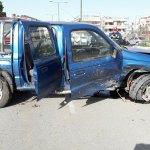 Τροχαίο με τραυματίες στο κέντρο της Λάρισας (φωτ.)