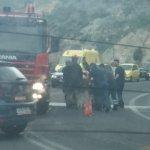 Τροχαίο στη Κρήτη- Επέμβαση της πυροσβεστικής (φωτ.)
