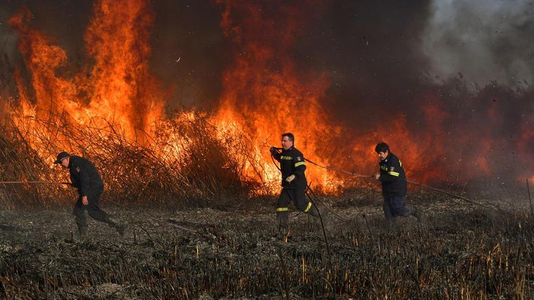 Σε ύφεση η φωτιά στα Βούναινα Λάρισας - Συνεχίζεται η κατάσβεση