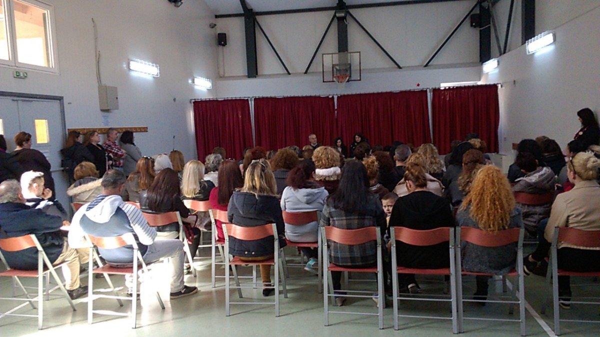 Ομιλία σε γονείς στο 1ο Δημοτικό Σχολείο Γιάννουλης