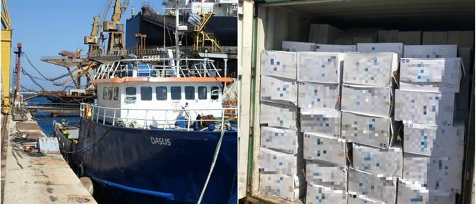 Πλοίο φορτωμένο με πάνω από… 24 εκατομμύρια λαθραία τσιγάρα