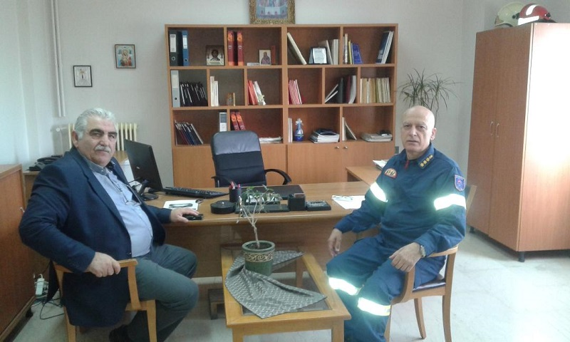Επίσκεψη Ν. Παπαδόπουλου στην Πυροσβεστική