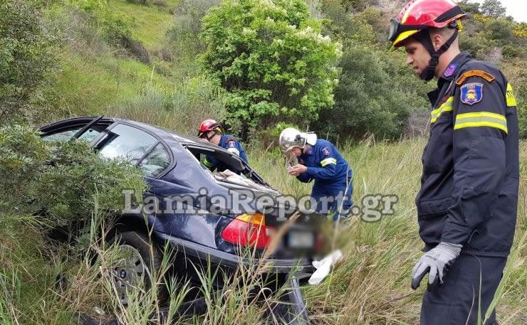 Έπεσε με το αυτοκίνητο σε γκρεμό 150 μέτρων και βγήκε ζωντανός (φωτ.)