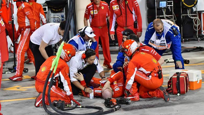F1: Σοκαριστικός τραυματισμός μηχανικού της Ferrari