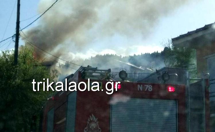 Φωτιά κατέστρεψε διώροφο σπίτι στη Χρυσομηλιά Καλαμπάκας