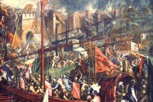 Η άλωση της Κωνσταντινούπολης από τους Λατίνους (12 Απριλίου 1204)