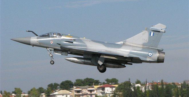 Σε εξέλιξη οι έρευνες για τα αίτια της συντριβής του Mirage 2000-5