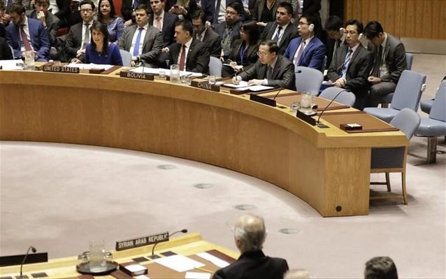 ΟΗΕ: Δεν υιοθετήθηκε η θέση της Ρωσίας για τα πλήγματα στη Συρία