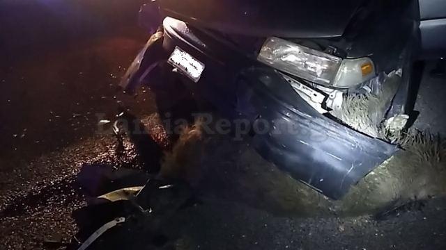 Νέο τροχαίο στην Εθνική Οδό – Αυτοκίνητο συγκρούστηκε με αγριογούρουνο (φωτ.)