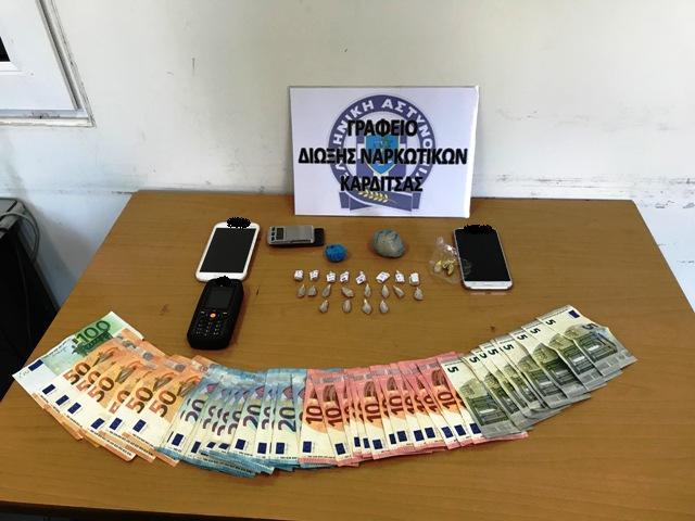 Διπλή σύλληψη στους Σοφάδες για ναρκωτικά