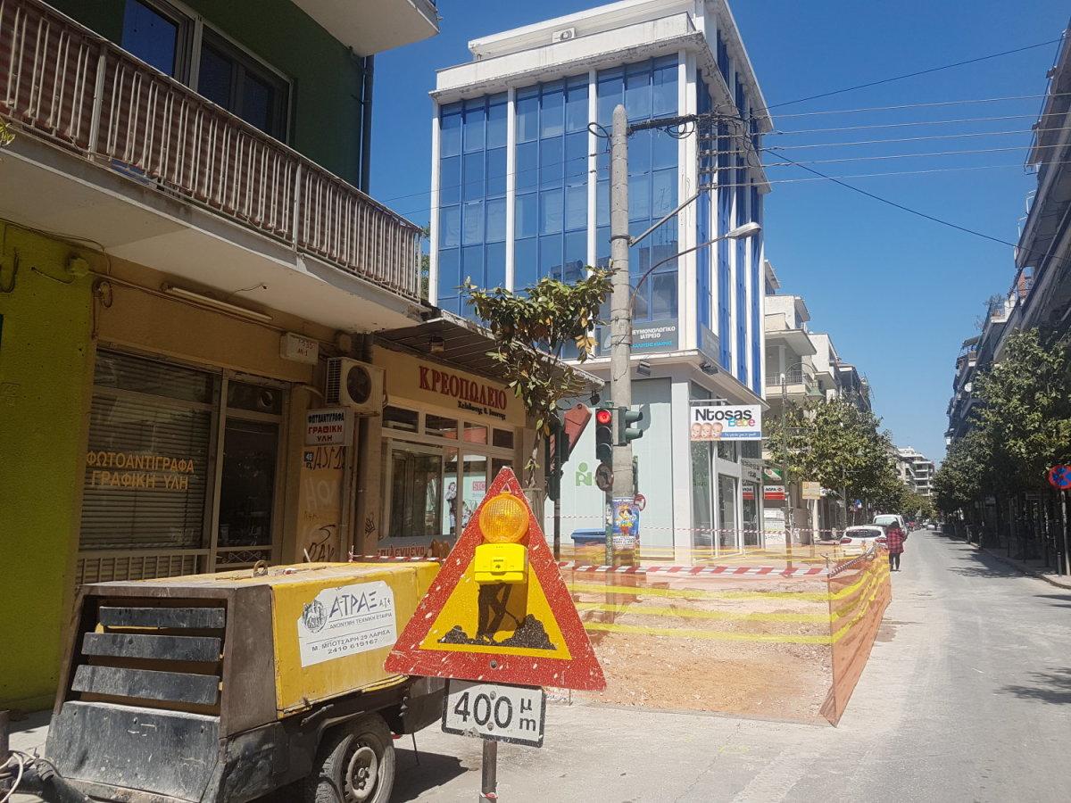 Κυκλοφοριακές ρυθμίσεις λόγω έργων σήμερα στη Λάρισα