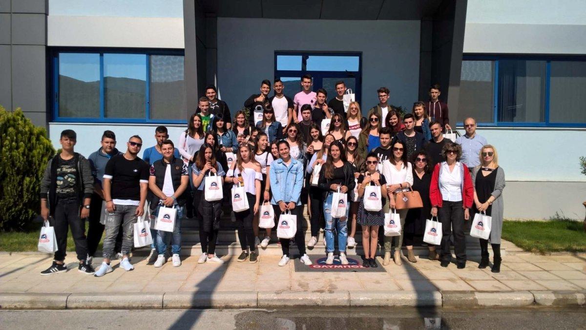 Στο εργοστάσιο «Όλυμπος» μαθητές του 1ου ΕΠΑΛ Παλαμά
