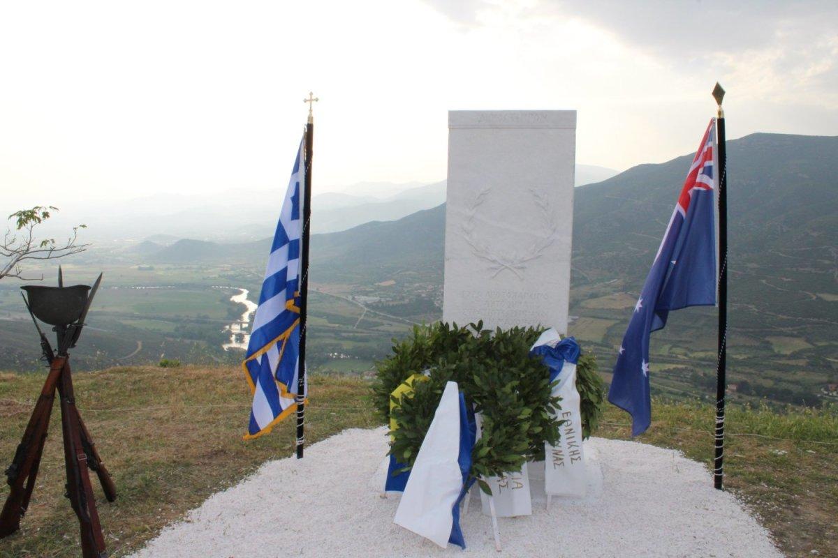 Μνημείο στα Αμπελάκια για τους ήρωες Αυστραλούς πολεμιστές (φωτ.)