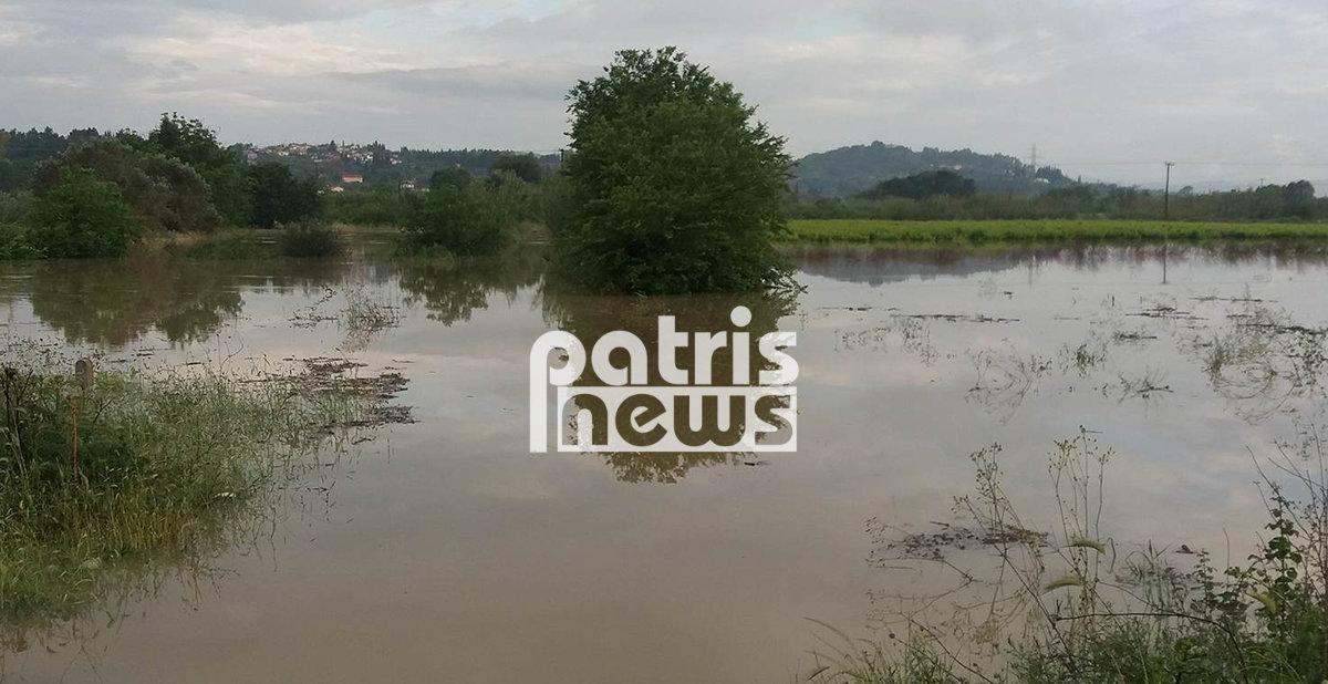 Σοβαρά προβλήματα στην Ηλεία από την έντονη βροχόπτωση