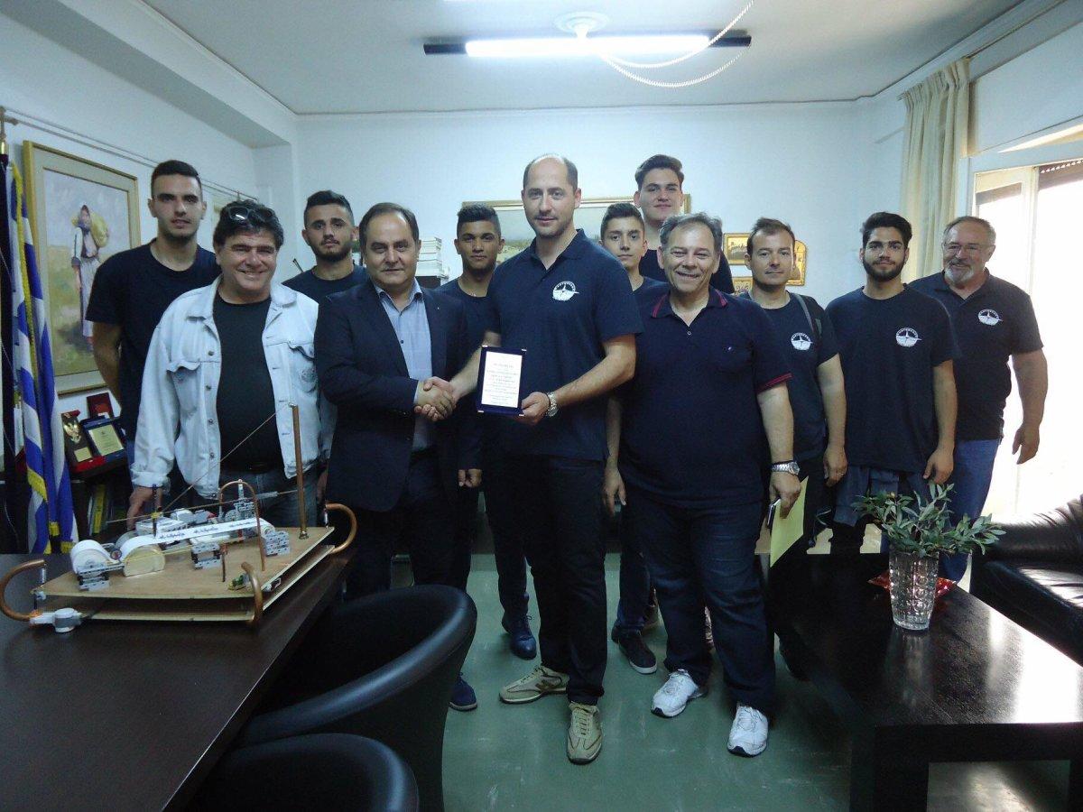 Οι Αρχές της Καρδίτσας συνεχάρησαν την ομάδα του 1ου ΕΠΑΛ Καρδίτσας