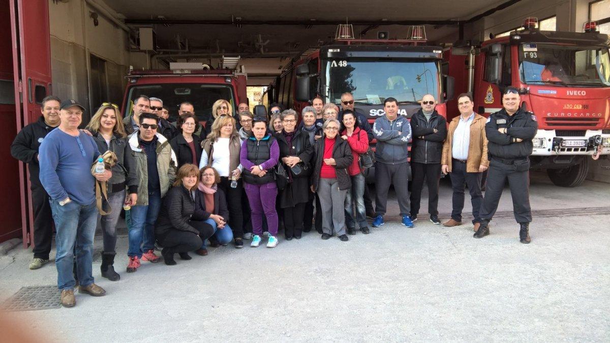 Επίσκεψη του 1ου ΣΔΕ Λάρισας στην Πυροσβεστική
