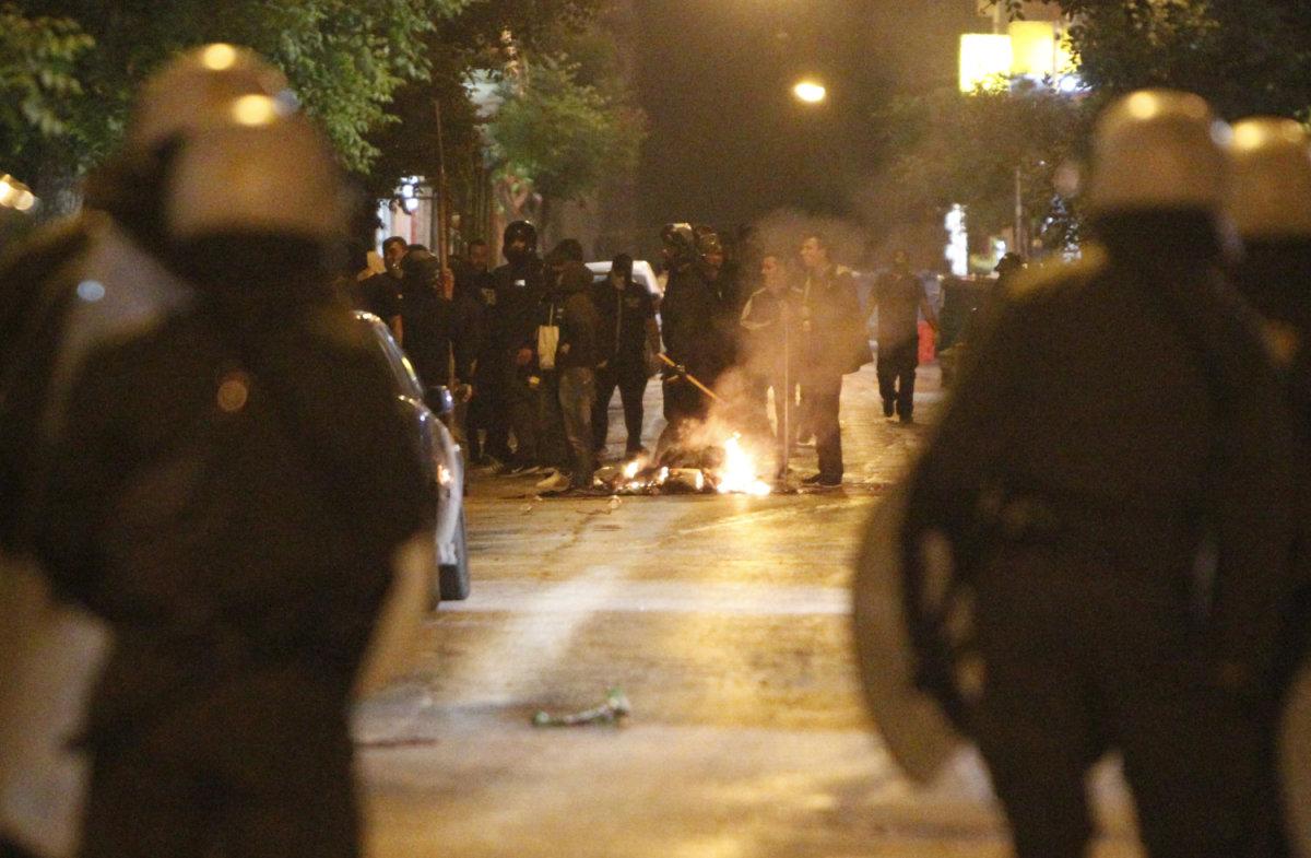 Νύχτα επεισοδίων στην Αθήνα
