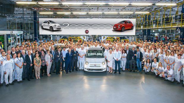 Το Fiat 500 υπ' αριθμόν 2.000.000 βγήκε από τη γραμμή παραγωγής