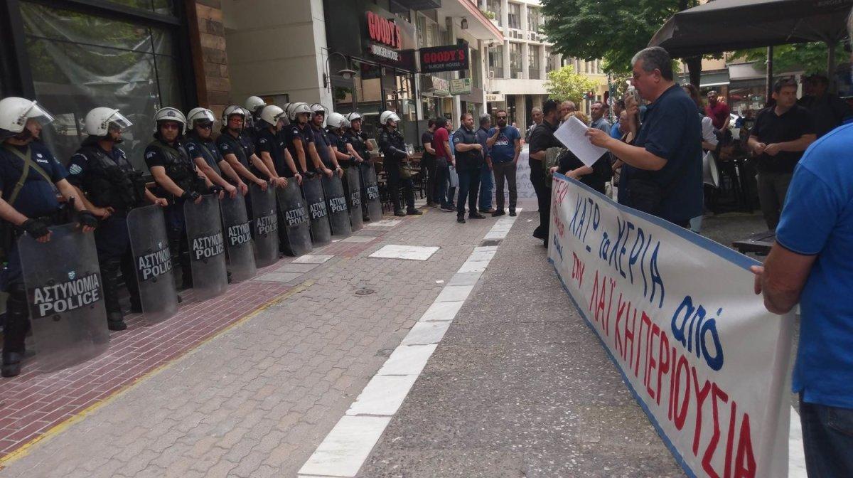 Συμβολαιογραφείο στη Λάρισα σε αστυνομικό κλοιό (φωτ. + βίντεο)