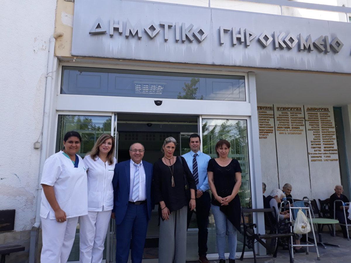 Επίσκεψη του ΙΑΣΩ Θεσσαλίας σε συνεργασία με τα ΙΕΚ Δήμητρα στο Δημοτικό Γηροκομείο Λάρισας