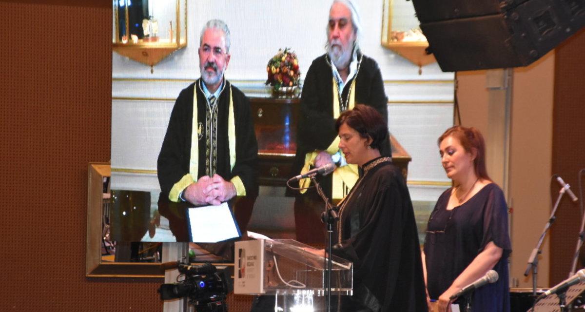 Το Χρυσό Μετάλλιο του Πανεπιστημίου Θεσσαλίας στον Βαγγέλη Παπαθανασίου (φωτ.)