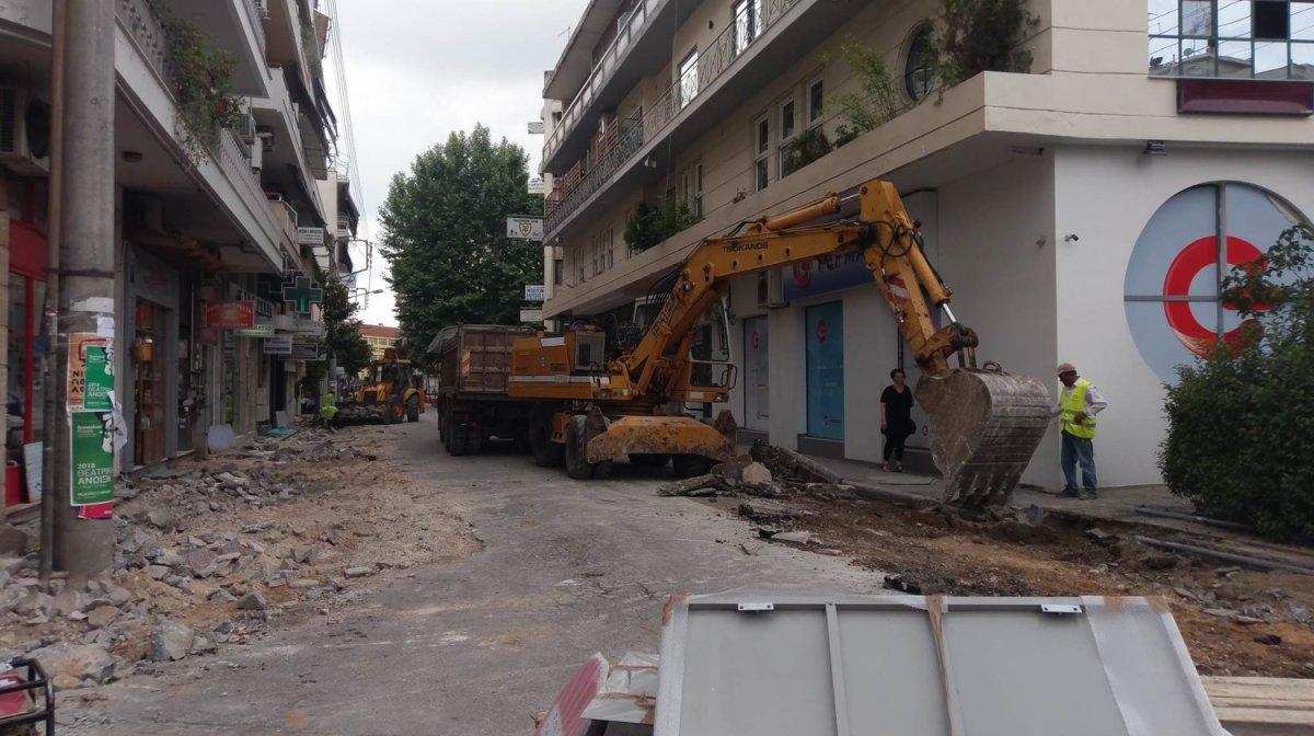 Εργοτάξιο η οδός Μανδηλαρά (φωτ.)