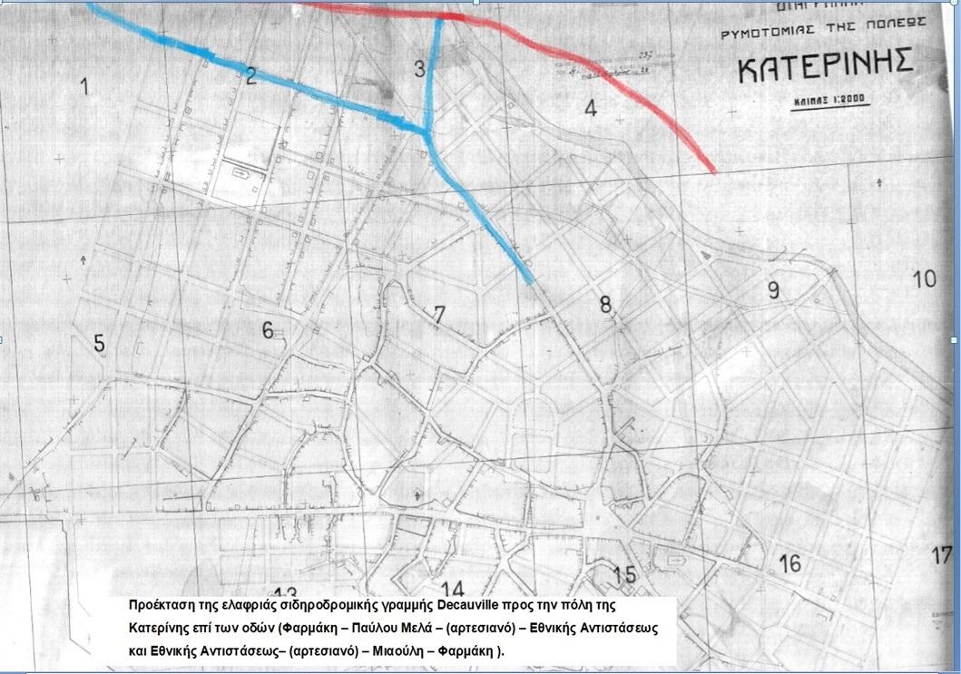 20 Η προέκταση της γραμμής προς τον _Σταθμό Ντεκοβίλ_ στην πόλη της Κατερίνης