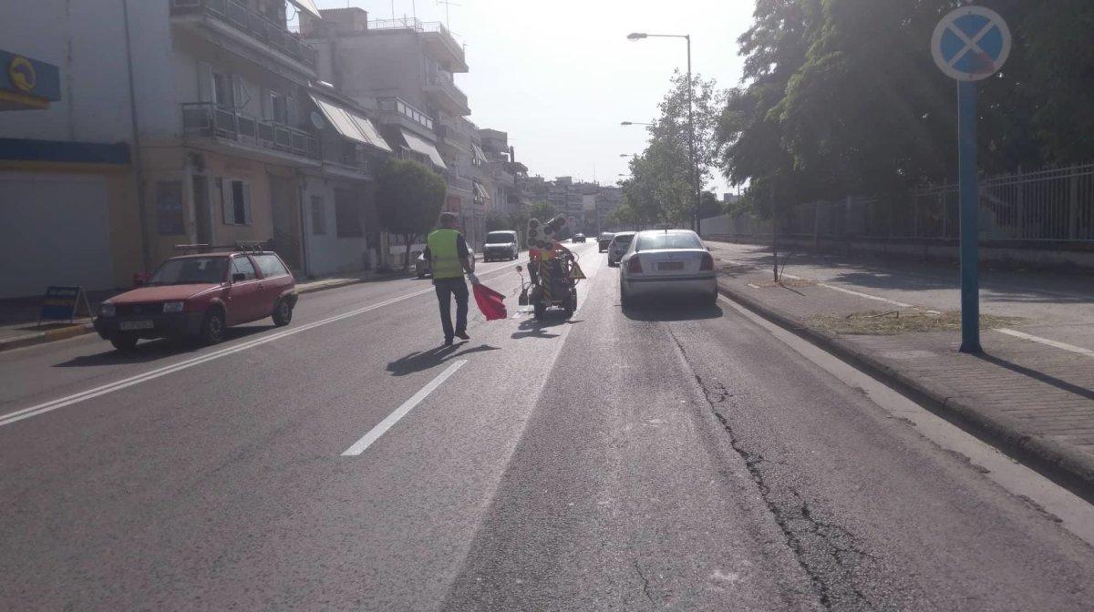 Λάρισα: Έργα διαγράμμισης στην οδό Ιωαννίνων (φωτ.)