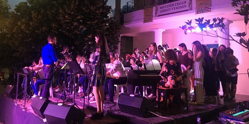 Στις εκδηλώσεις της Μουσικής σχολής & της φιλαρμονικής του Δ. Τεμπών  ο Κώστας Κολλάτος