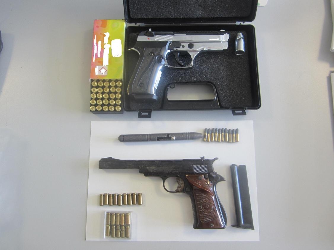 Συλλήψεις σε Λάρισα- Ελασσόνα για όπλα και φυσίγγια (φωτ.)