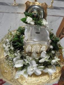 Τμήμα του λειψάνου του αγίου Λουκά στον Άγιο Αχίλλιο