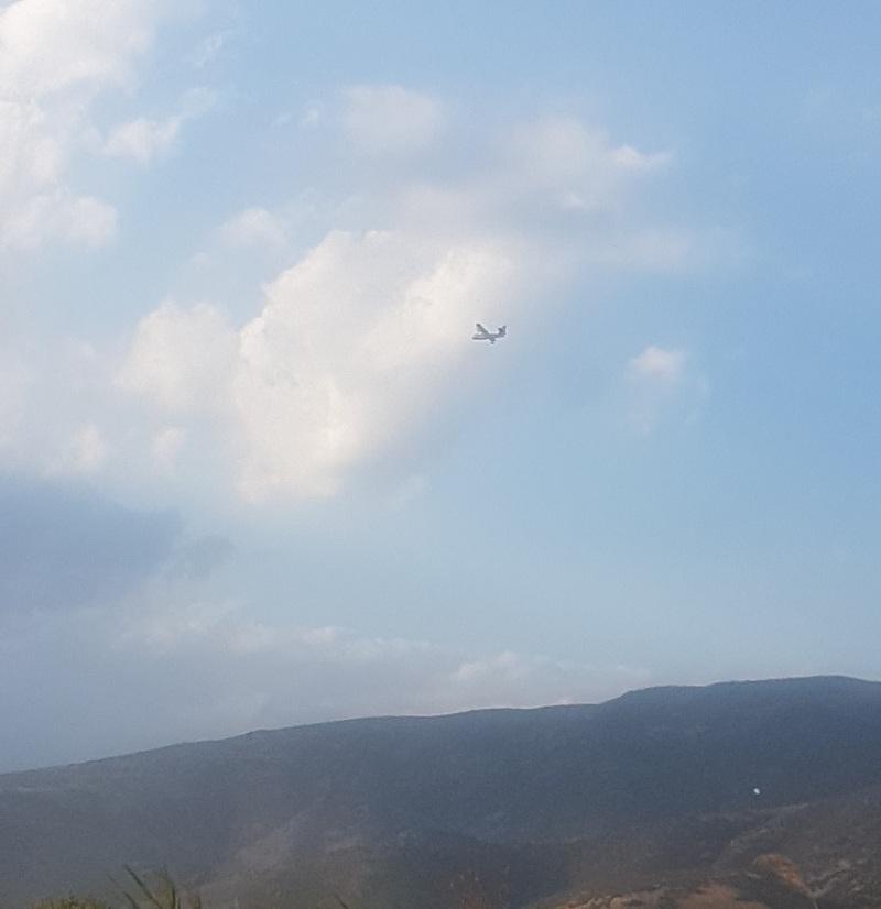 Και πυροσβεστικά αεροπλάνα στη «μάχη»