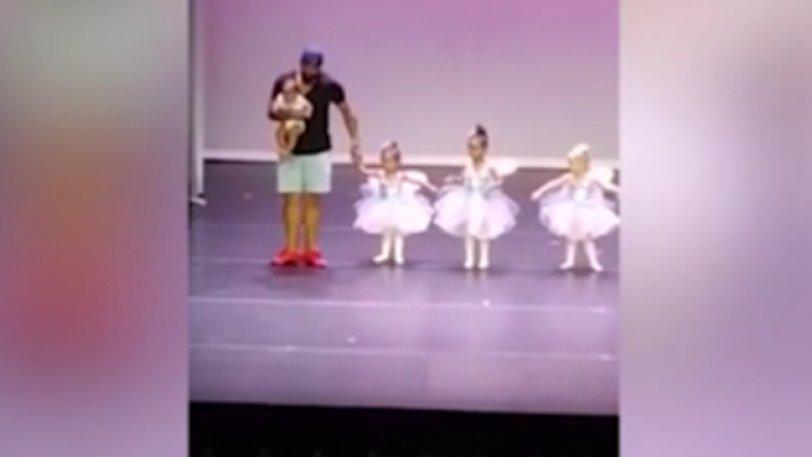 Πατέρας «μύθος» χόρεψε μπαλέτο με την κόρη του για να τη ηρεμήσει από το άγχος και το σοκ (video)