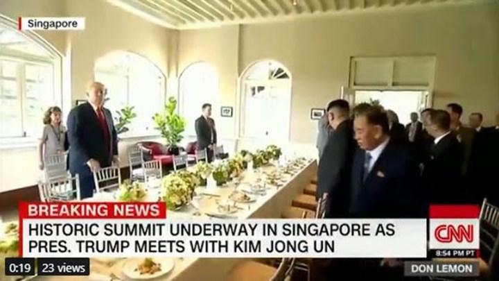 Αυτό ήταν το μενού στο γεύμα εργασίας των Ντόναλντ Τραμπ και Κιμ Γιονγκ Ουν