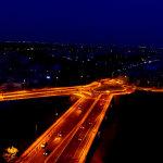 Η Λάρισα τη νύχτα από drone (φωτ.)