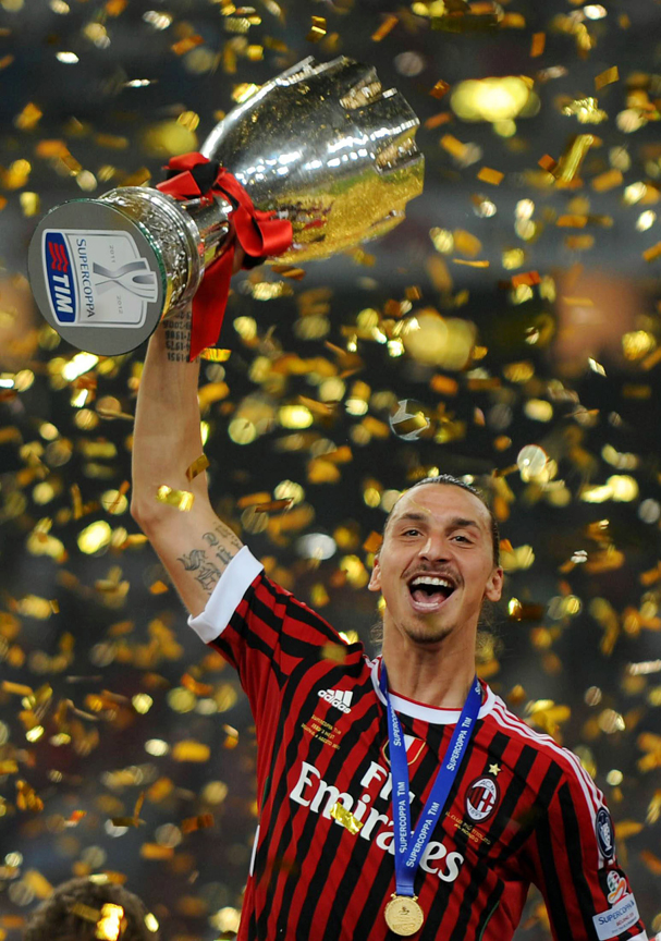 Fotboll, Italiensk Supercup, Milan - Inter