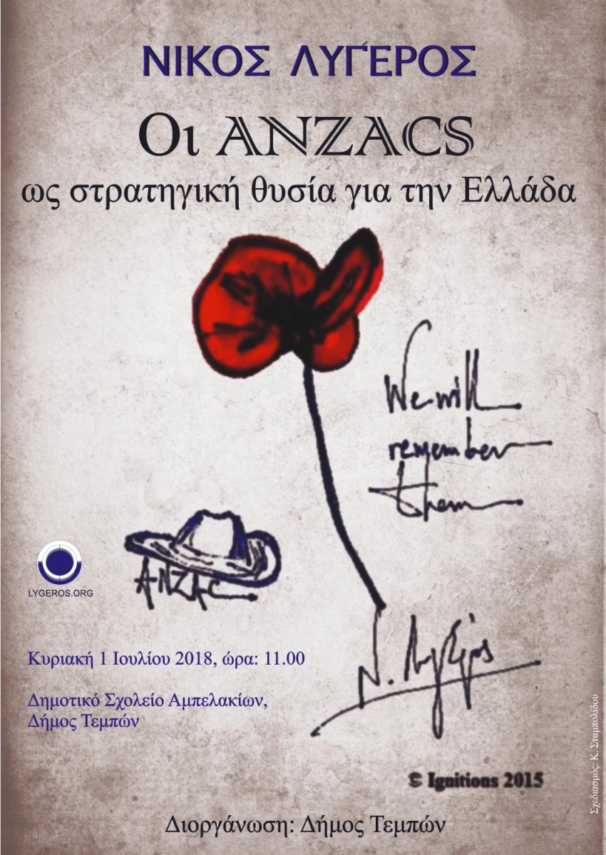 Εκδηλώσεις μνήμης για τους ANZACS